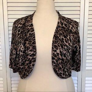 Torrid Leopard Cropped Cardigan. Size 3